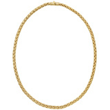 Woven 14k Yellow Gold Chain Necklace