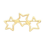 18k Yellow Gold 3-Star Brooch
