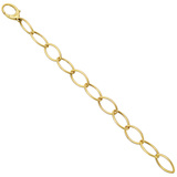 ​18k Yellow Gold Oval Link Bracelet