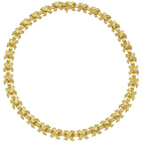 """18k Yellow Gold """"X"""" Link Necklace"""