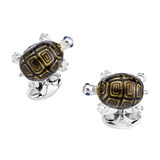 Silver Tortoise Cufflinks