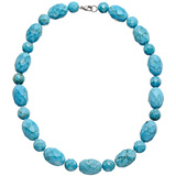 Faceted Turquoise Bead Necklace