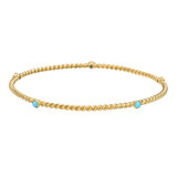 18k Gold &amp; Turquoise Twistwire Bangle