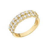 Two-Row Diamond Eternity Band (~1.2 ct tw)