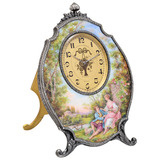 Ornate Enamel 8-Day Table Clock