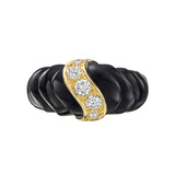 Black Onyx & Diamond Dress Ring