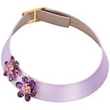 &quot;Hawaii&quot; Amethyst &amp; Pink Sapphire Collar Necklace