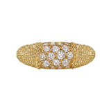 "18k Gold & Diamond ""Phillippine"" Band Ring"