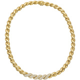 ​18k Yellow Gold & Diamond San Marco Link Necklace