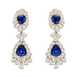 Sapphire &amp; Diamond Chandelier Earrings