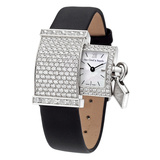 Secret Pavée 18k White Gold & Diamond Watch