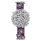 ​Socrate 18k White Gold & Diamond Bracelet Watch