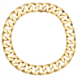 18k Gold Curb Link Necklace