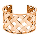 """Criss Cross"" 18k Rose Gold Cuff Bracelet"