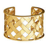 """Criss Cross"" 18k Gold Cuff Bracelet"