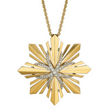 18k Gold Étoile Convertible Pendant Brooch with Diamond