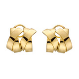 "18k Yellow Gold Double ""X"" Earrings"