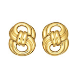 "18k Yellow Gold ""Figure Eight"" Earclips"