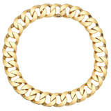 18k Yellow Gold Curb-Link Necklace