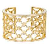 """Kensington"" Diamond Cuff Bracelet"