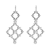 "​18k White Gold & Diamond ""Kensington"" Drop Earrings"