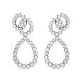 "Platinum & Diamond ""Looped"" Earrings"