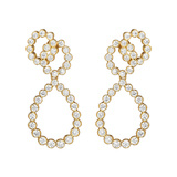 "18k Yellow Gold & Diamond ""Looped"" Earrings"