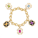 Maltese Cross Charm Bracelet
