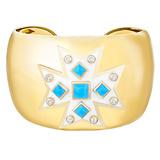 Maltese Cross Turquoise Cuff Bracelet