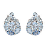&quot;Paisley&quot; Aquamarine &amp; Diamond Earrings