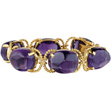 """Pebble"" Amethyst & 18k Gold Bracelet"