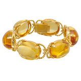 """Pebble"" Citrine & 18k Gold Bracelet"