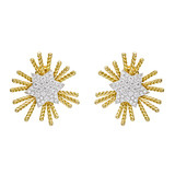 """Pleiades"" 18k Gold, Platinum & Diamond Earclips"