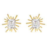 """Pleiades"" 18k Gold & White Topaz Earrings"