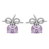 """Wrapped"" Lavender Amethyst & Diamond Earrings"