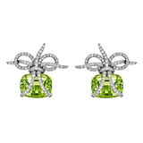 """Wrapped"" Peridot & Diamond Earrings"
