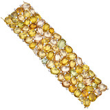 """Riviera"" Yellow Beryl Bracelet with Diamond"