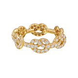 "​18k Yellow Gold & Diamond ""Love Knot"" Band Ring"