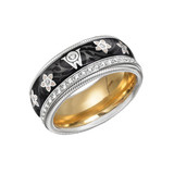 &quot;Black Silk&quot; Diamond &amp; Enamel Spinning Band Ring