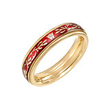 "18k Gold & Enamel ​""Chili Fantasy"" Ring"