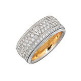 &quot;Diamond Kiss&quot; Pav Diamond Spinning Band Ring