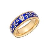 &quot;Forget-me-not&quot; Blue Enamel Spinning Band Ring