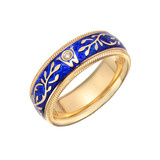 "Blue Enamel ""Forget-Me-Not"" Ring"