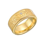 """Golden Bloom"" Spinning Band Ring"