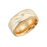 "Mother-of-Pearl Enamel ""Life's Passion"" Ring"
