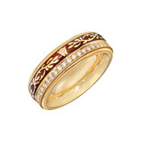 &quot;Mocha&quot; Diamond &amp; Enamel Spinning Band Ring