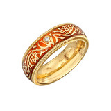 &quot;Orange&quot; Enamel Spinning Band Ring