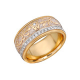 &quot;Silken Radiance&quot; Diamond &amp; Enamel Spinning Band Ring