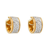Small Pav Diamond &quot;Twist&quot; Huggie Earrings