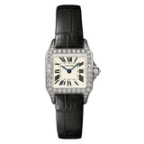 ​Santos Demoiselle Small White Gold & Diamond (WF902007)